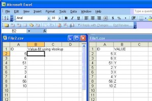 Using VLookup like Batch script to compare two excel / csv ...